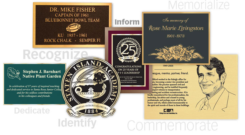 Bronze Plaques and Signs