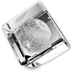 World Crystal Paperweight