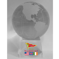 Walker Cup Optical Crystal Globe Paperweight