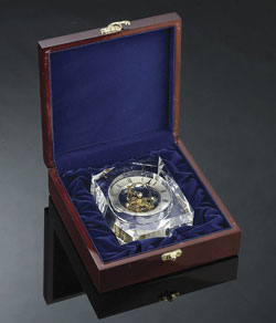 Crystal Trophy Clock Box